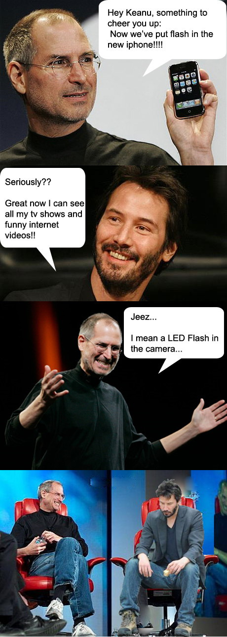 Keanu Reeves learns something about The New iPhone