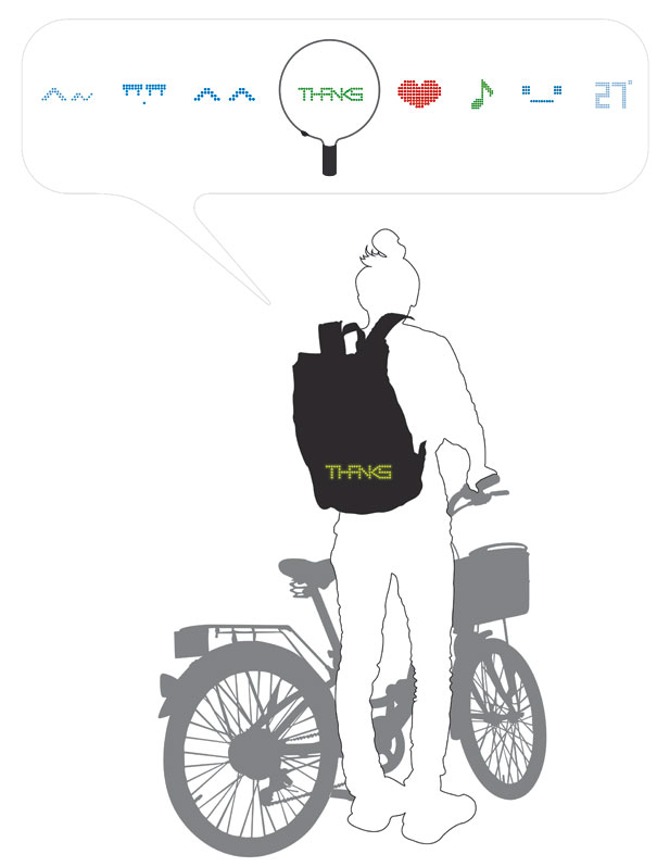 Cycling Backpack Shows Turn Signals 5