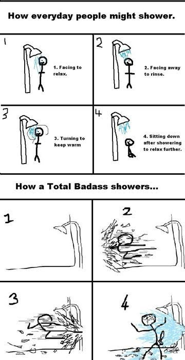How To Shower Like A Total Badass