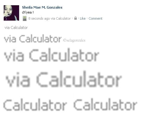 Just Updated Her Facebook Status Via CALCULATOR