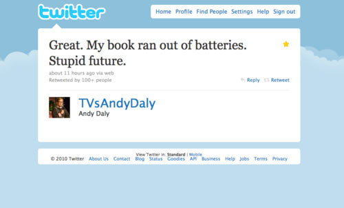 My Book Ran Out Of Batteries - Stupid Future