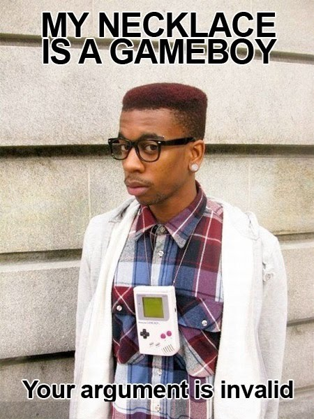 My Necklace Is A Gameboy - Your Argument Is Invalid