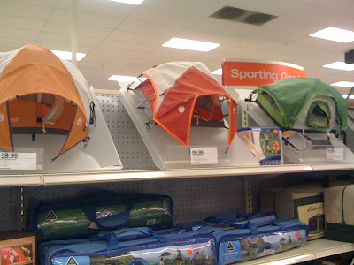 ... activities...and I saw these cool miniature tent displays and had to take a picture of them; forget the real tents I kinda want the displays. & Stuff: Target tent displays