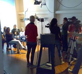 Allievi del Liceo Artistico Edgardo Mannucci di Ancona durante le riprese