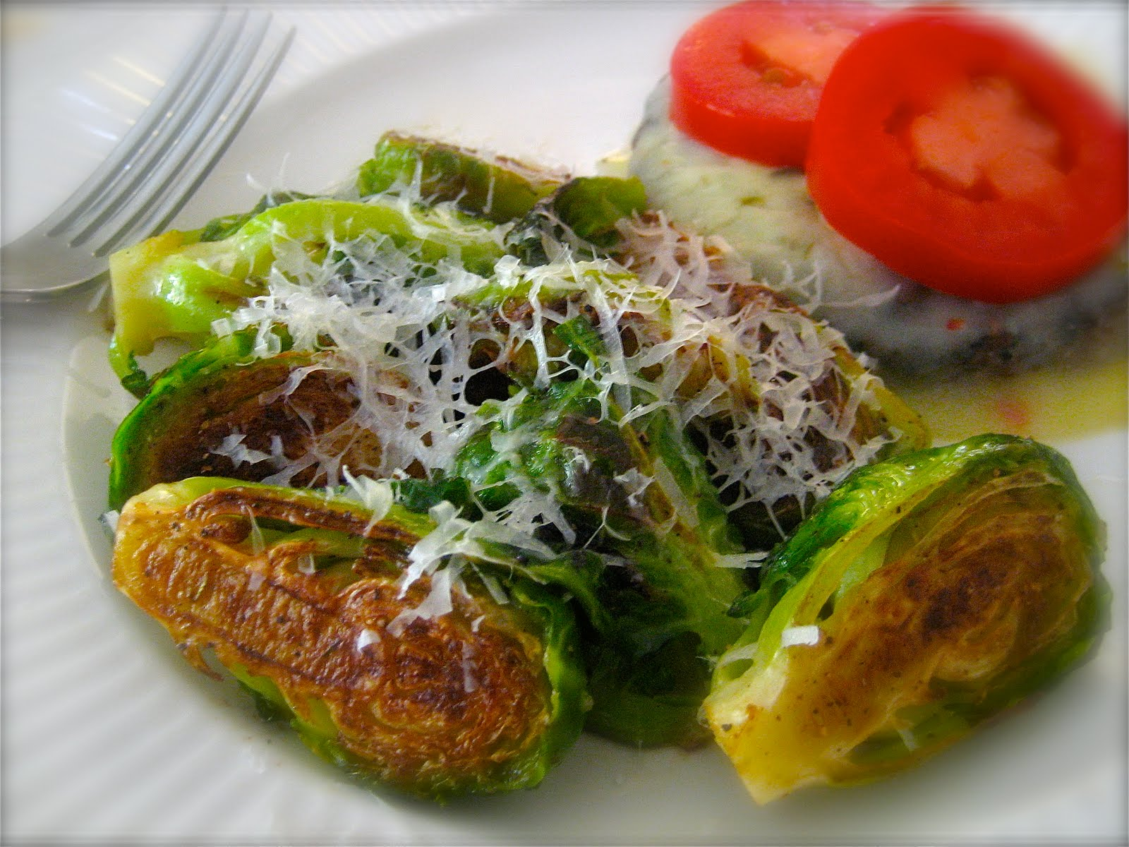 Laura's Lunch: Lunch Rerun ~ Golden Crusted Brussels Sprouts