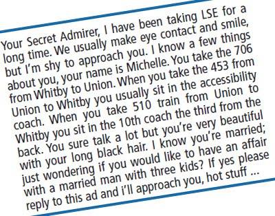 Creepy stalker letters