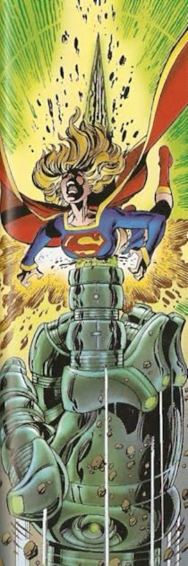 Ampliándole el roto del ombligo a Supergirl