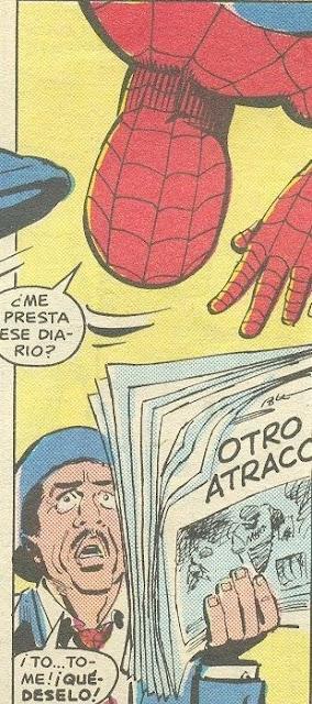 spiderman gorroneando el periódico