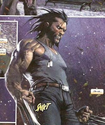 Wolverine sacando las garras