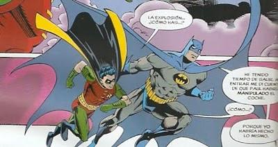 Batman y Robin ondeando sus capas