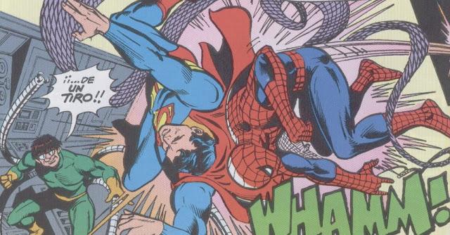 Spiderman & Superman dándose de bruces