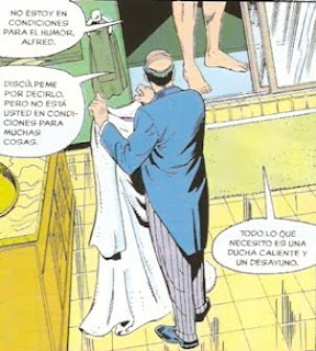 Batman en la ducha