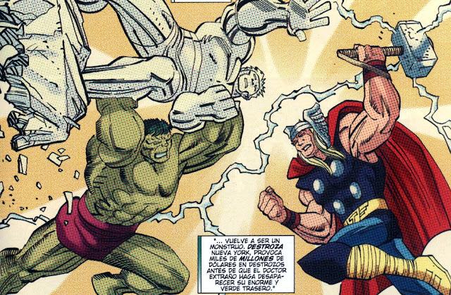 Hulk & Thor intercambiando impresiones