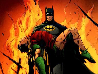 Batman con Robin caido