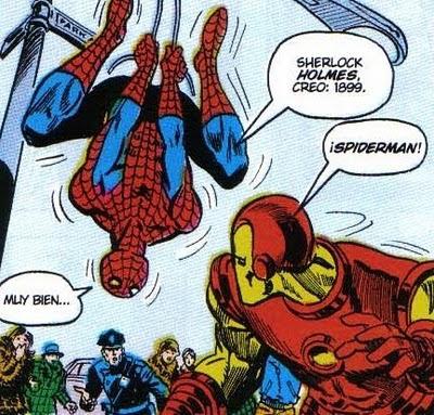 Que se vea que Spiderman también conoce a los clásicos