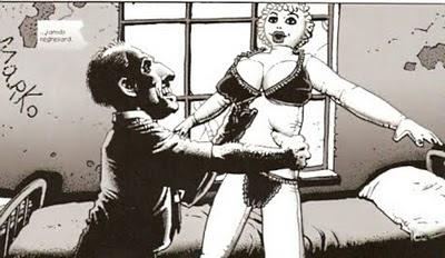 El loco y su muñeca hinchable