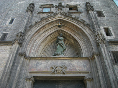 Detail of Santa Maria del Mar gothic church