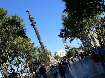 Monument to Columbus at the end of La Rambla
