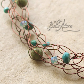 Crochet Wire Jewelry Patterns and Bridal Jewelry by Yoola on Etsy