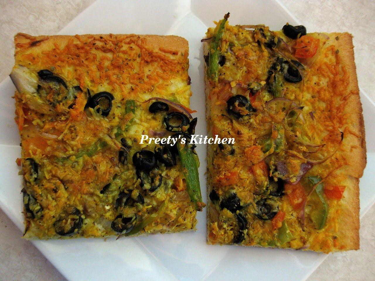 Preety's Kitchen: Semolina Pizza Dough Recipe