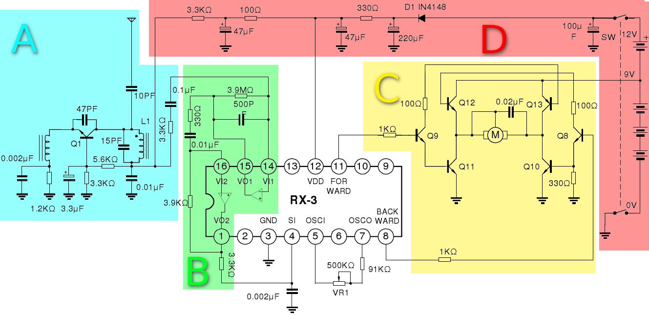Electr 243 Nica Y Ciencia Receptor Coche Rc De Dos Canales