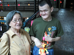 My friend Yuen Loong with his mother