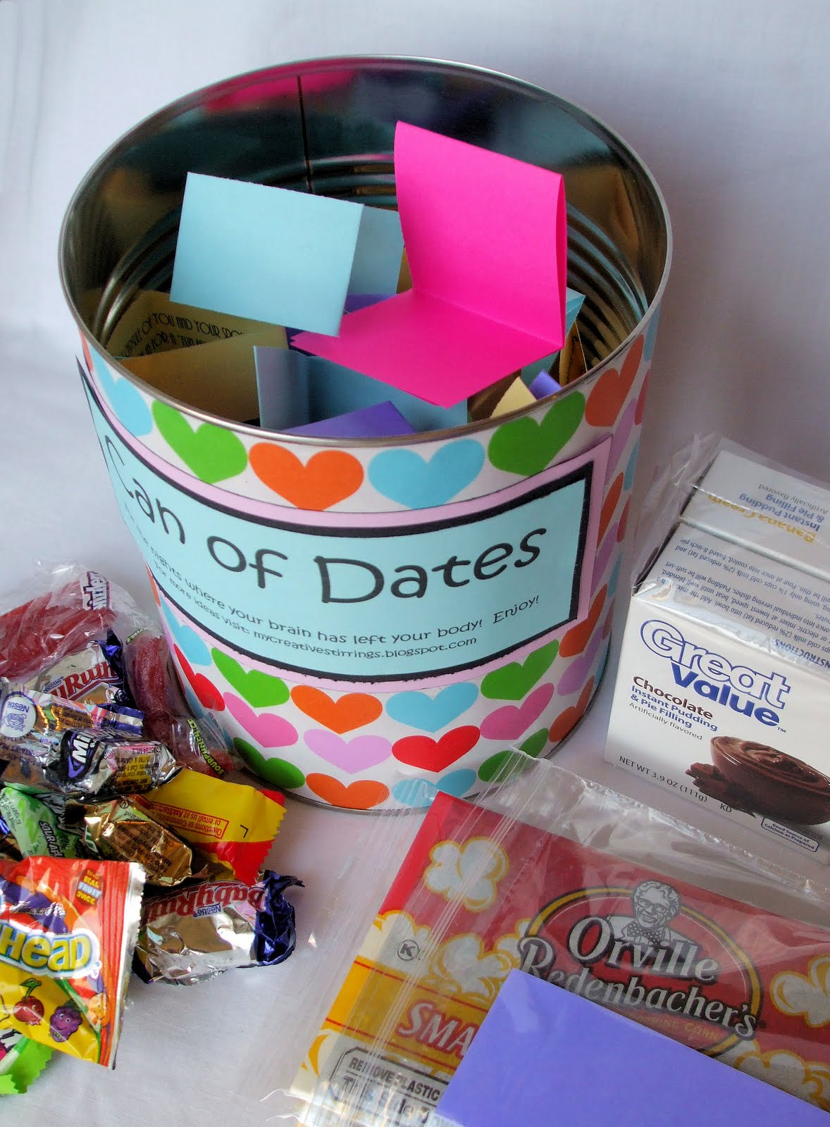 Wedding Gift Year Of Dates : My Creative Stirrings: Creative Wedding Gift Idea- Can of Dates