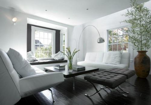 Tellier sal n modeno estilo minimalista - Salon en blanco y negro ...