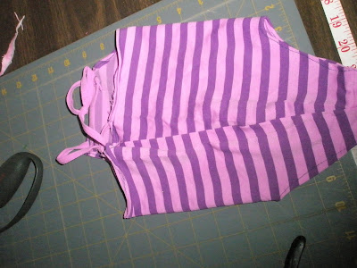 infant swimsuit purple stripe yoga top upcycle