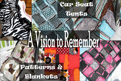 a vision to remember etsy pattern sale, rag quitls, car seat tents, % off