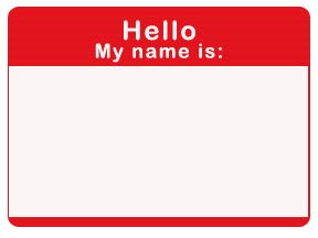 free printable red name tag