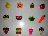 karya kain flanel berbentuk buah-buahan yang mana bisa ditempelkan di ...
