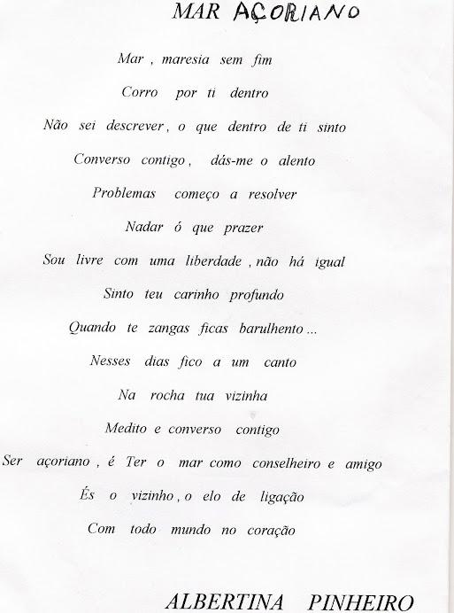 Poema ao mar Açoriano
