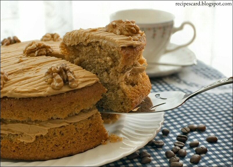 Food Network Recipes on RecipesCard's Blog: Coffee Walnut Cake