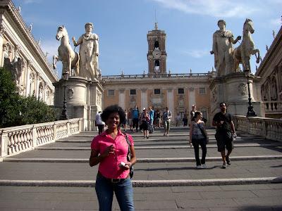 Escalera Cordonata que da acceso a la colina Capitolina.