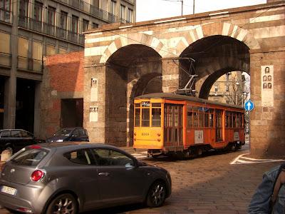 Antiguo tranvía todavía en uso.