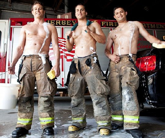 from Ari naked women in firefighters uniformo