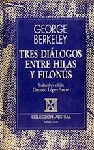 BERKELEY - TRES  DIALOGOS. HILIAS Y FILONUS