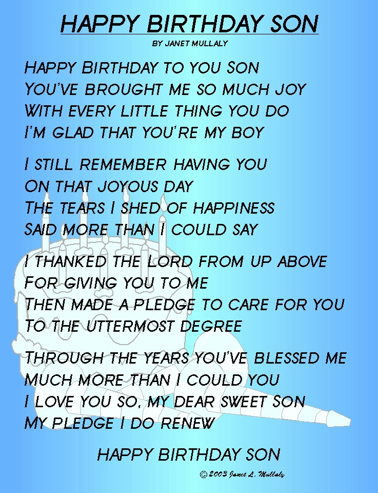 Pinterest birthday quotes son only on quotestopics m4hsunfo