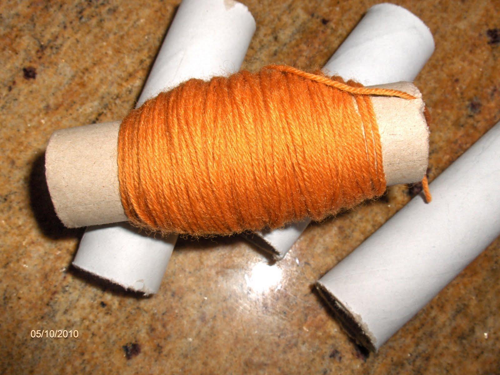 Aprendiz reciclar tubo cart n para almacenar restos de lanas - Reciclar restos de lana ...