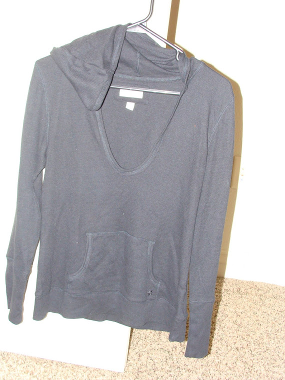Dark Blue Hooded Long sleeve