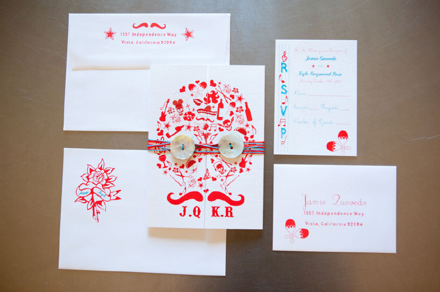 Invitations Day Of.the.dead.wedding