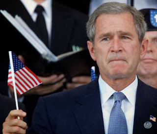 Bush with flag