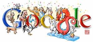 Beijing Olympics Game Closing - Google Logo