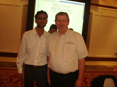 Afzal Khan with Bruce Clay at SEO Toolset Training, Gurgaon, India