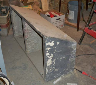 The Old Double Concrete Sink In The Basement