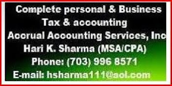 Contact to CPA Mr. Hari K. Sharma