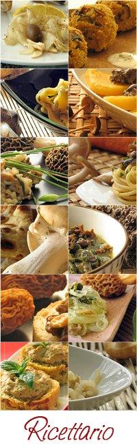 Indice delle ricette con funghi - Mushrooms recipes