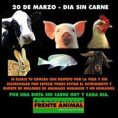 20 de Marzo- Día sin carne