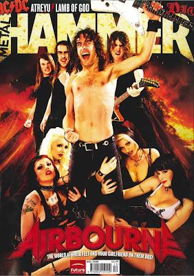 Airbourne en la portada del Metal Hammer de diciembre de 2008)